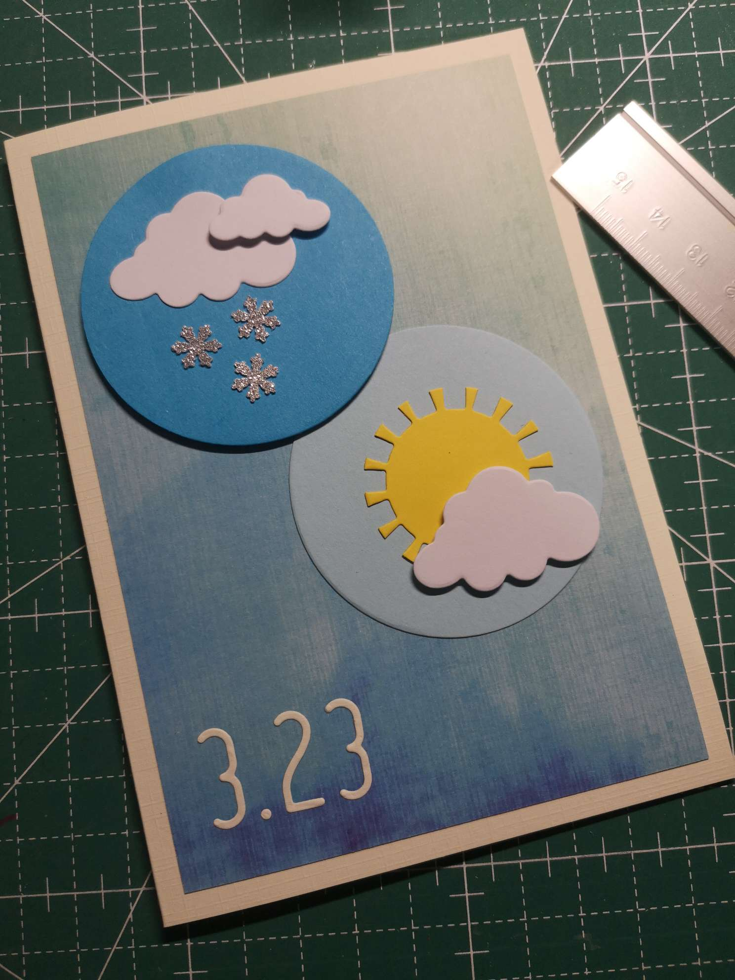 3.23世界气象日,所有节日皆可以做卡片系列,三月节日太多了好累,4月见了