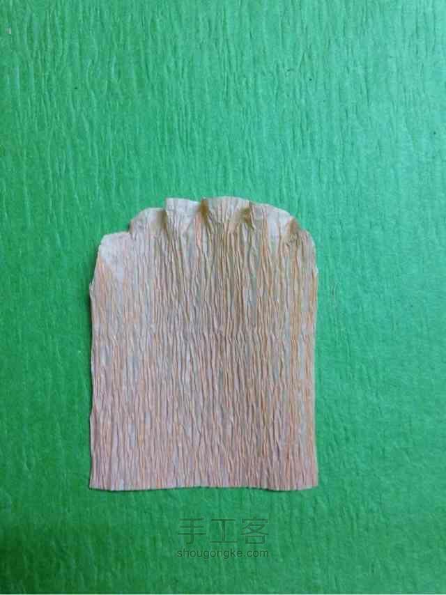 皱纹纸虞美人制作方法 第1步