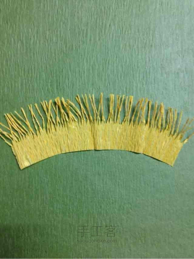 皱纹纸虞美人制作方法 第3步