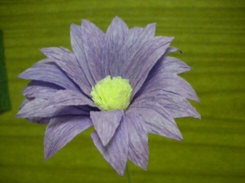 皱纹纸雏菊制作方法 第12步