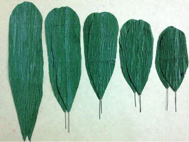 皱纹纸君子兰制作方法 第5步