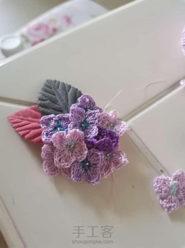绣球花发夹
