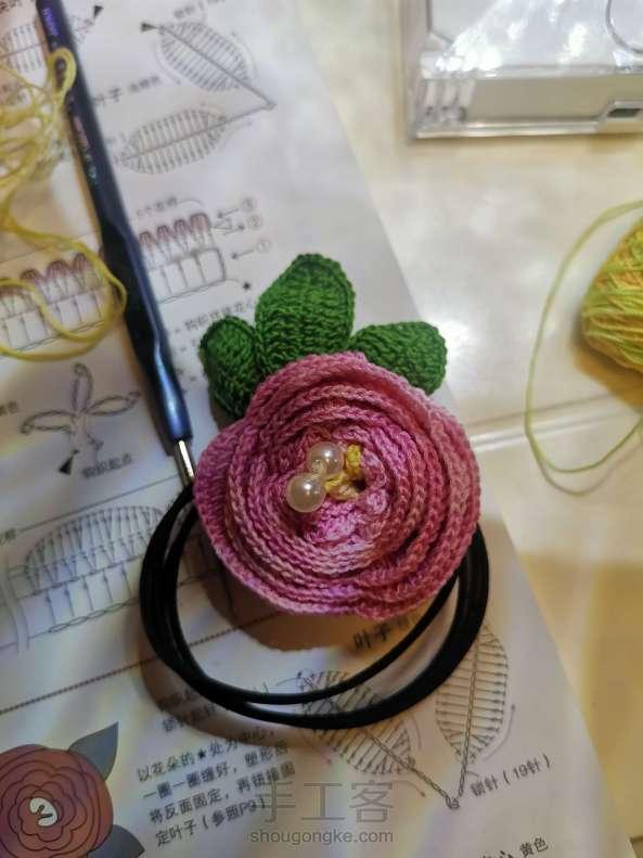 卷玫瑰发绳