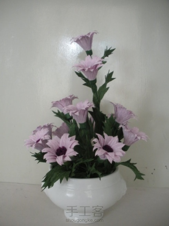 皱纹纸雏菊制作方法