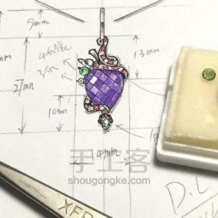 林老师设计丨紫水晶吊坠