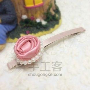 粉色系发饰丨小珍珠花朵
