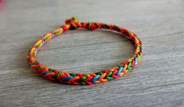 端午节五彩手链编织教程