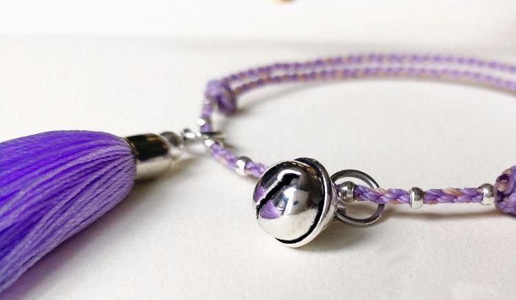 基础款手链—四股辫手链脚链【紫铃】