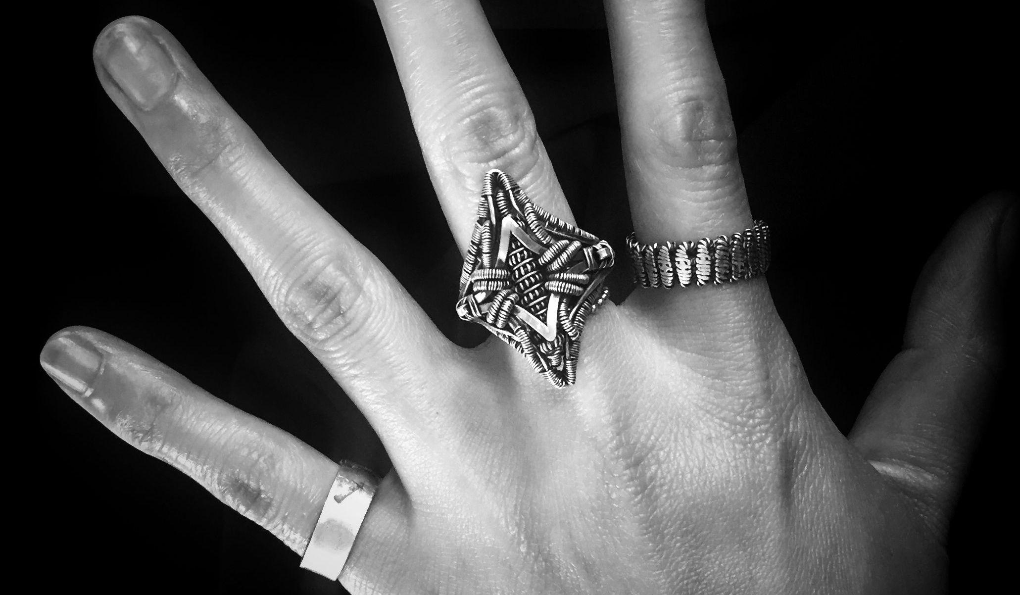 哥特风绕线戒指