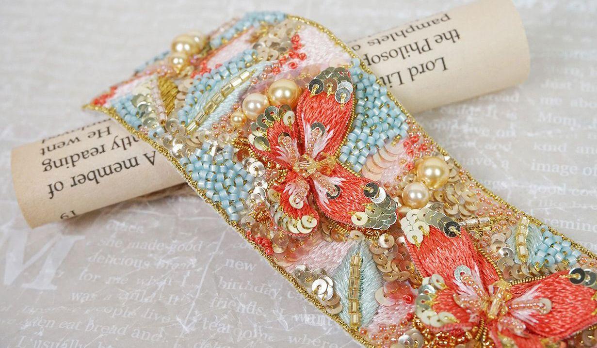 杜娟老师教你做超美的蝴蝶法绣手链