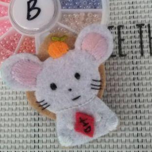 可爱老鼠不织布魔术贴