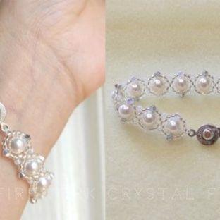 华丽珍珠手链视频教程