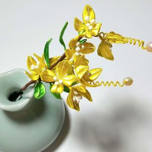 手工缠花教程之超简单的桂花缠法,很适合新手的一款花型,试试吧