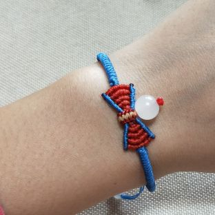 在逃公主手链编织教程 迪士尼 编绳手链制作方法 手工编织编法
