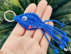 伞绳编织小鱼挂件,视频教程分享#山姐儿手工