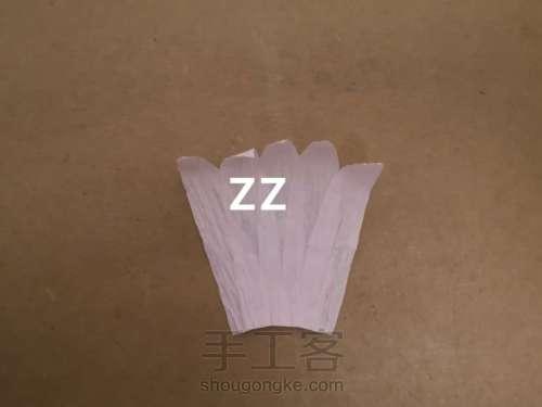 皱纹纸锦带花制作方法 第2步