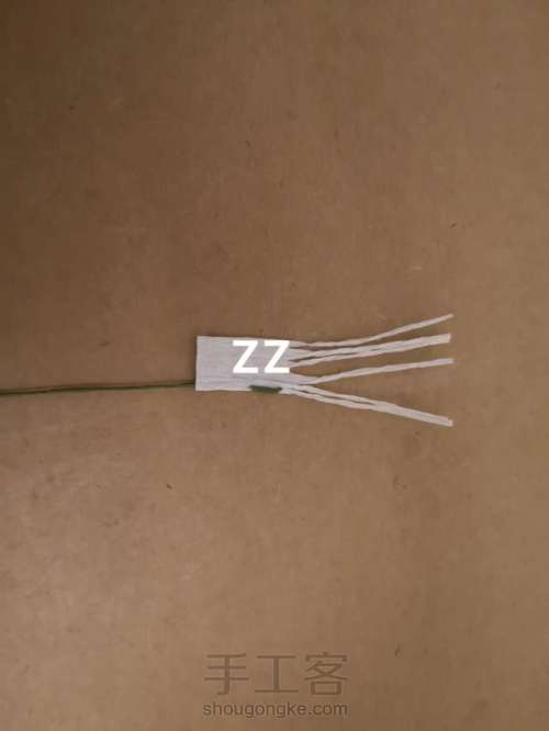 皱纹纸锦带花制作方法 第5步