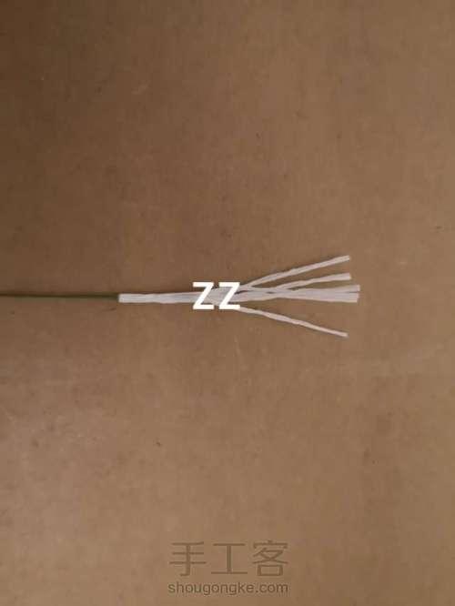 皱纹纸锦带花制作方法 第6步