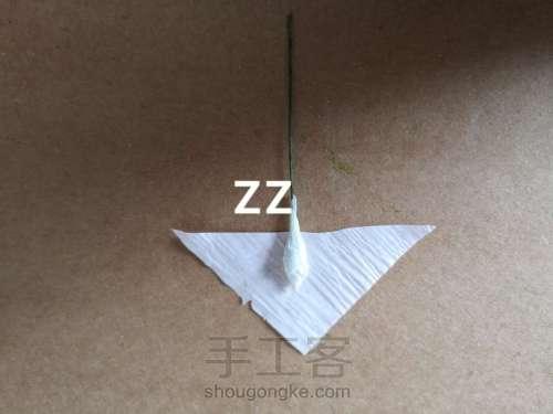 皱纹纸锦带花制作方法 第11步