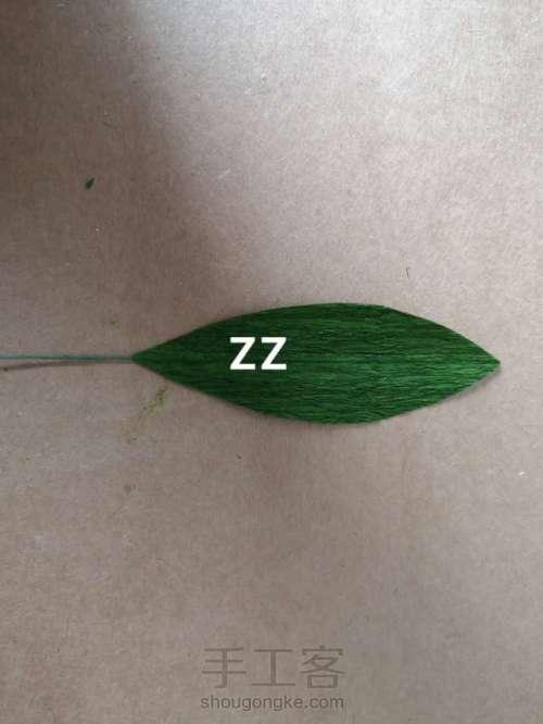 皱纹纸锦带花制作方法 第14步