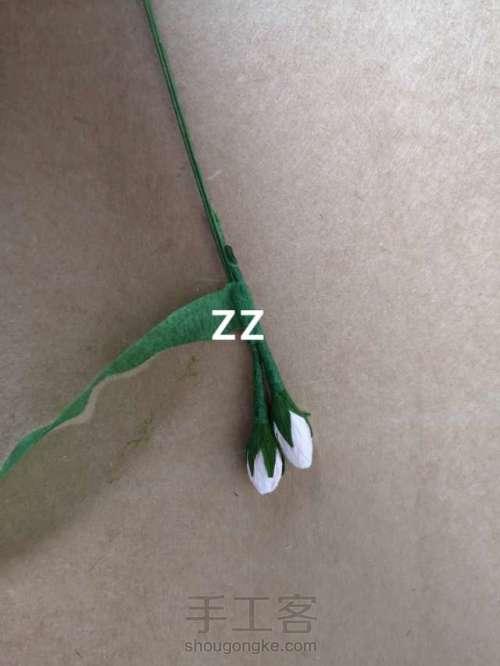 皱纹纸锦带花制作方法 第16步