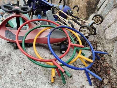幼儿园废旧铁圈改造 第1步