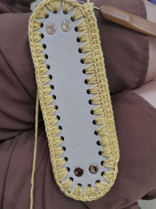 丝带钩织包包 第1步