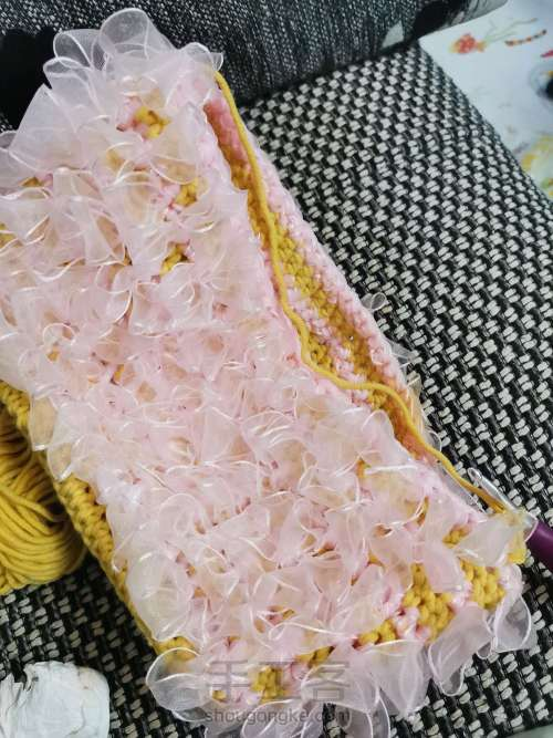 丝带钩织包包 第7步