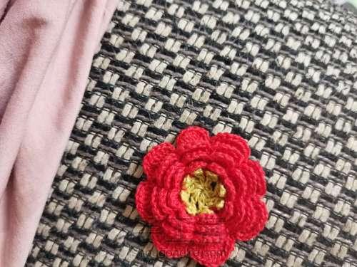 送你一朵小红花🌸发绳 第6步