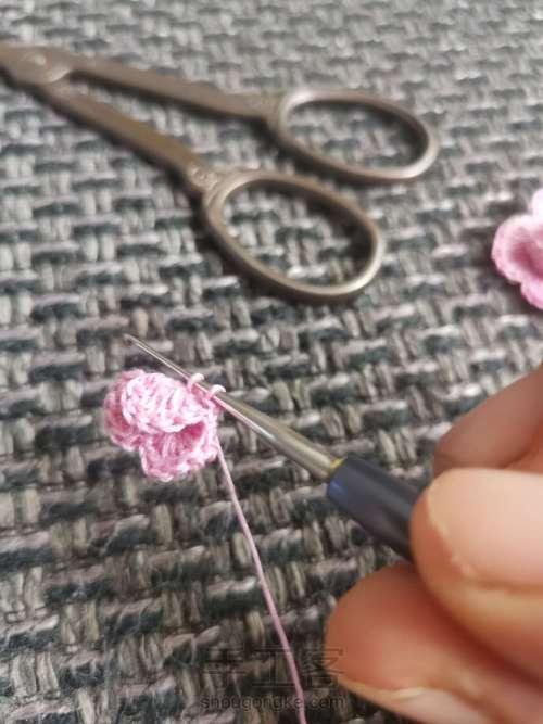 玫瑰发绳 第3步