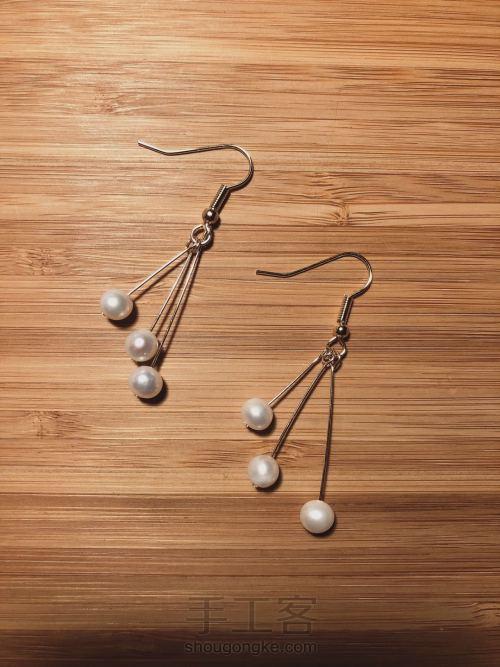 母亲节最温柔的礼物:简约百搭珍珠耳环 第6步