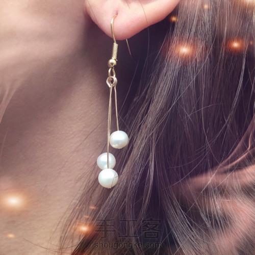 母亲节最温柔的礼物:简约百搭珍珠耳环 第7步