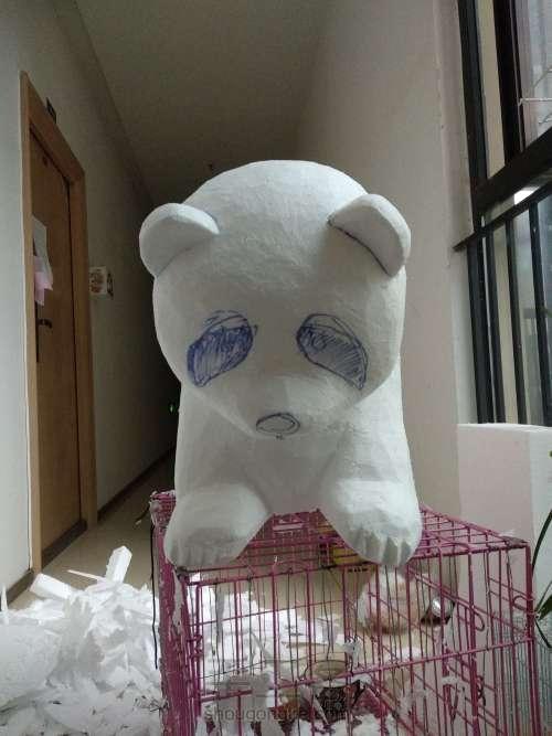 泡沫雕刻熊猫 第4步