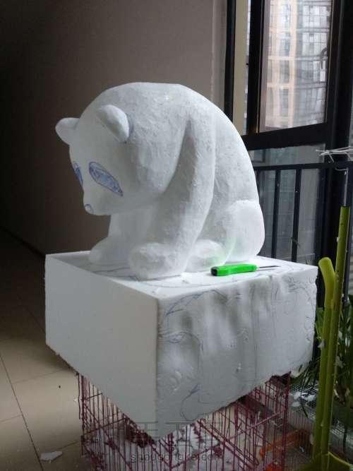 泡沫雕刻熊猫 第5步