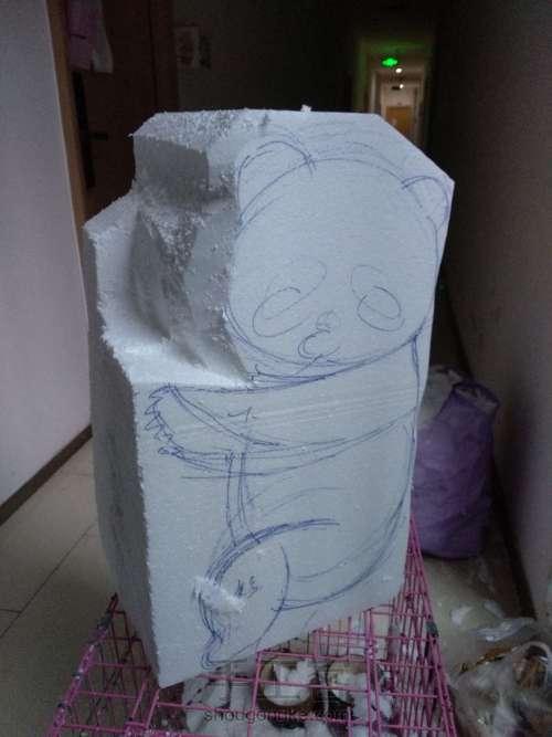 泡沫雕刻熊猫 第6步
