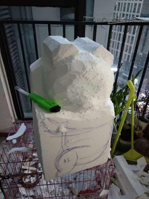 泡沫雕刻熊猫 第7步