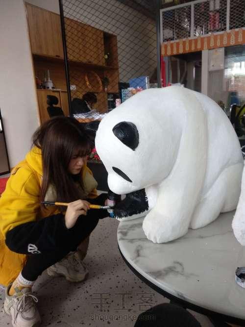 泡沫雕刻熊猫 第9步