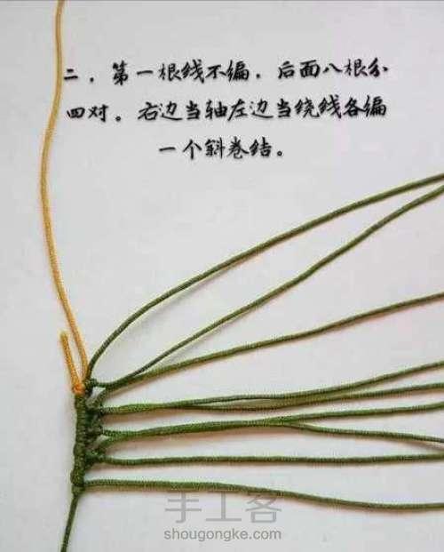 编织藤蔓叶子 第2步